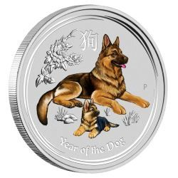 Sydney Money Expo Special 2018 Year of the Dog 1/4oz Silver Coloured Coin
