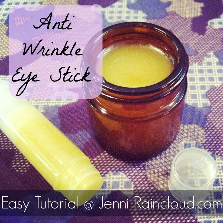 DIY Anti Wrinkle Eye Stick with frankincense, carrot seed, and lavender essential oils