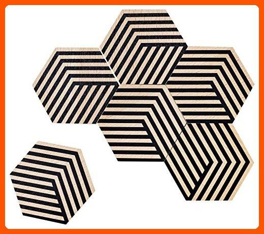 Areaware BOTT2B Table Tiles, Black - Made of wood (*Amazon Partner-Link)