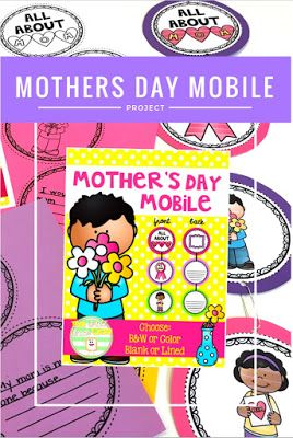 Mother's Day Mobile- a beautiful classroom decoration for a Mother's Day tea of celebration and sweet and treasured gift for students to take home. The Whole Wheat Class