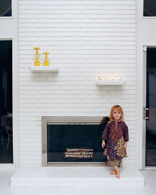 Fireplace Design painting brick fireplace ideas : 18 best White Brick Fireplace images on Pinterest
