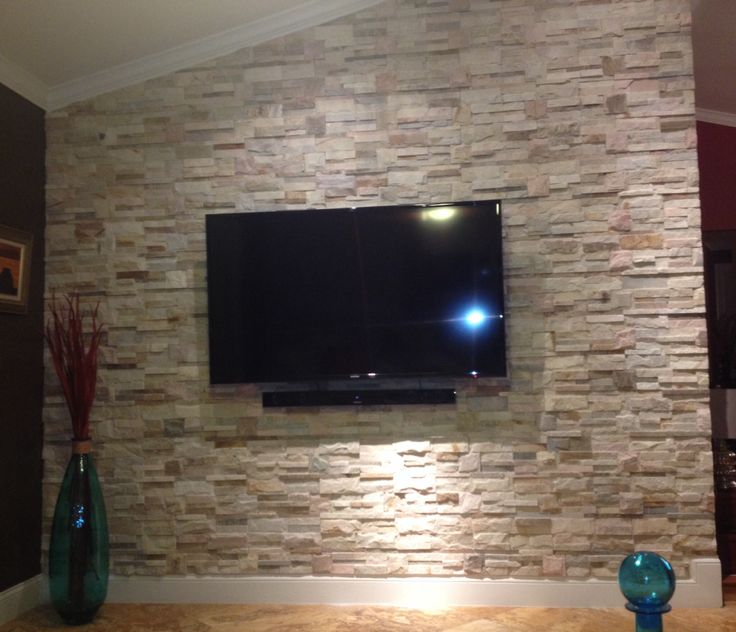 Stone Wall In Living Room!