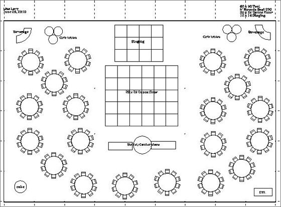 Average size dance floor for wedding reception gurus floor for Wedding reception layout