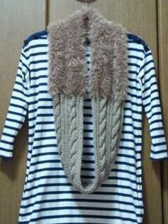 なわ編みとファーのスヌードの作り方 編み物 編み物・手芸・ソーイング 作品カテゴリ ハンドメイド、手作り作品の作り方ならアトリエ