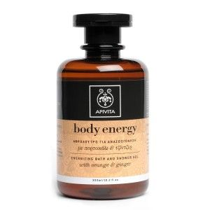 BODY ENERGY Energizing Bath & Shower Gel with ginger & orange #Dirt Removal #Revitalization #Energy and Mood Uplifting Bath & shower gel that offers revitalization and energy to the body and uplifts the mood.  Read more at www.apivita.com