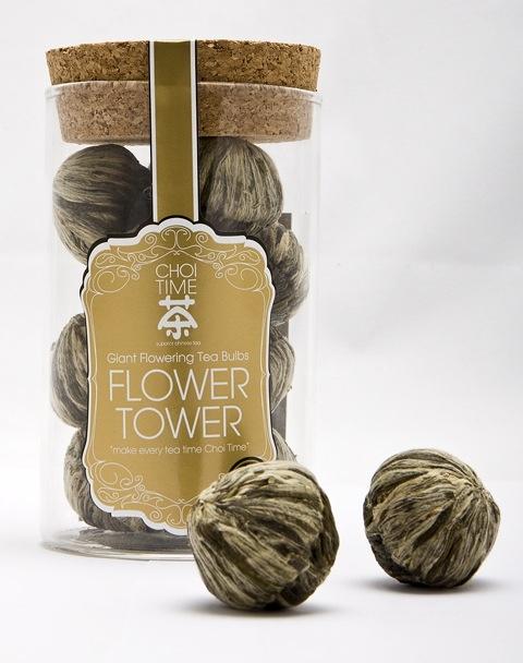 Flower Tower - Choi Time tea jar