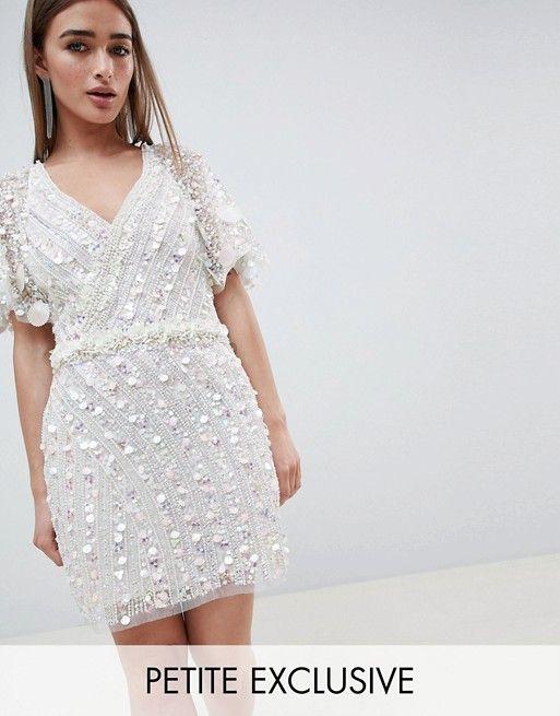 4766ce11db5d A Star is Born Petite Cape Mini Dress with Mermaid Embellishment ...
