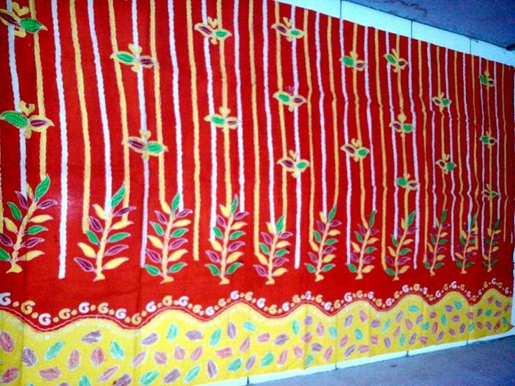 batik hand-printing from Madura, Indonesia 2 m x 1,1 m USD20