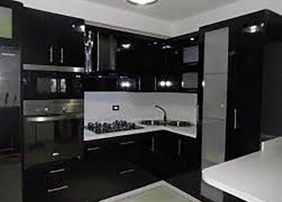 decoracion de cocinas modernas minimalista negro