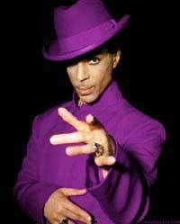 You don't get more purple than Prince!