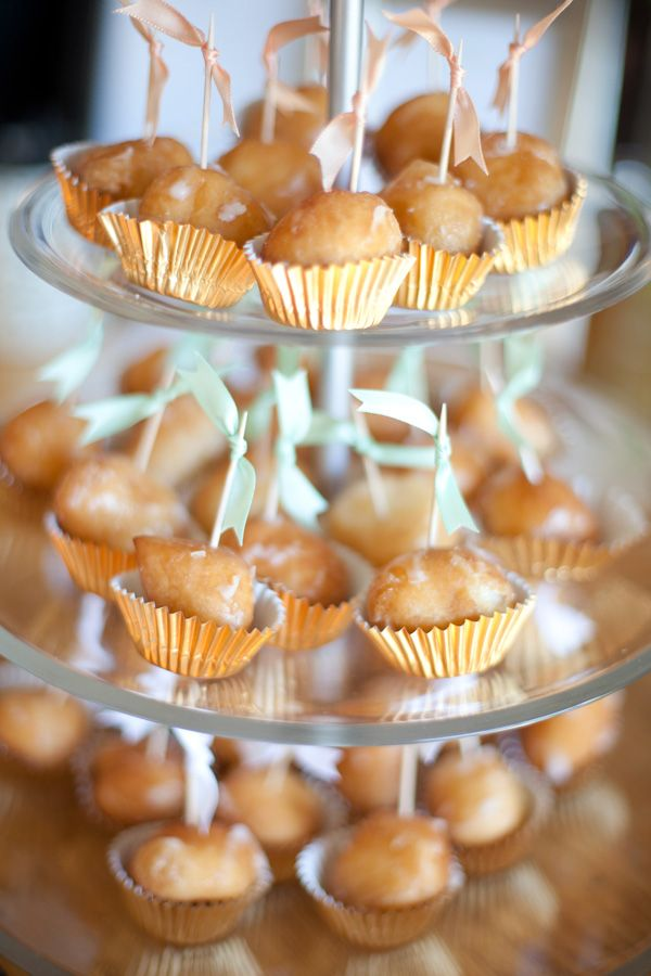 Donut holes in mini muffin wrappers...adore!