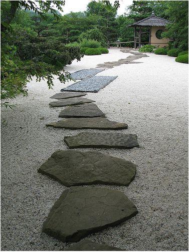 Stepping Stone Paths through zen garden