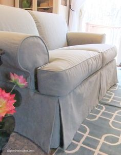 This cotton/poly canvas is slipcover perfect! It's weighty, supple and barely wrinkles.