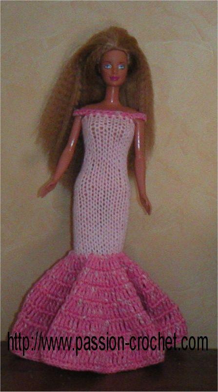 Plusieurs modèles de robes pour Barbie au tricot et crochet ( tuto ) gratuit