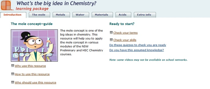 Learning Packages for S6 #science What's the big idea in Chemistry? – great for online learning: http://ow.ly/bcUV2
