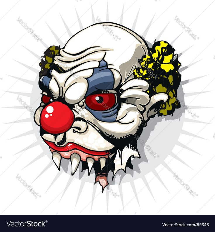 Mask of Evil Clown. Download a Free Preview or High Quality Adobe Illustrator Ai, EPS, PDF and High Resolution JPEG versions.
