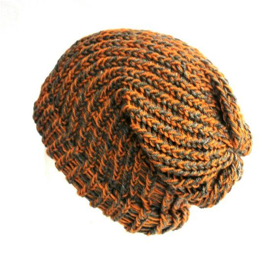 Mustard yellow and grey hat soft vegan beanie unisex winter hat ... c666da406e38