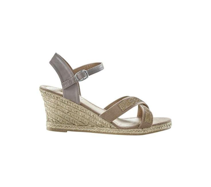 Štrasové sandály na klínovém podpatku | blancheporte.cz #blancheporte #blancheporteCZ #blancheporte_cz #shoes #boty #sandals