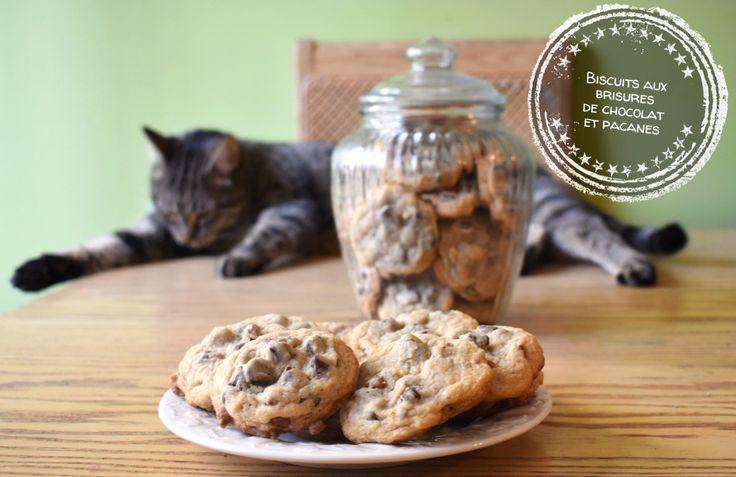 Biscuits aux brisures de chocolat et pacanes – Au bout de la langue
