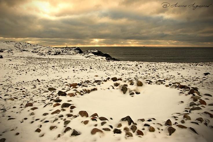 Heartshape. Mølen, Larvik, Vestfold, Norway
