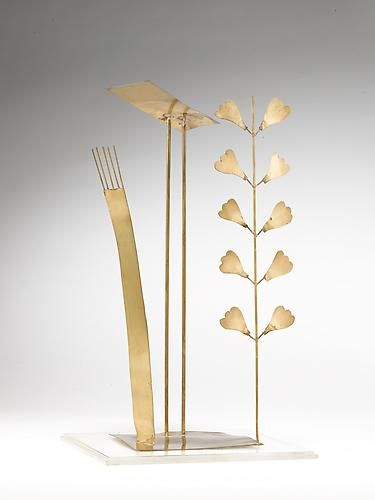 Fausto Melotti Virgulto 1973 Brass 14 1/8 x 8 x 5 1/8 in Barbara Mathes Gallery