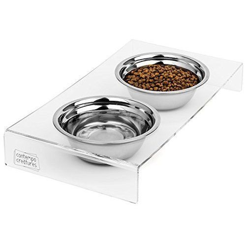 Stainless Steel Food Water Bowls Stand Cats Dogs Easy to Clean #Petbowl