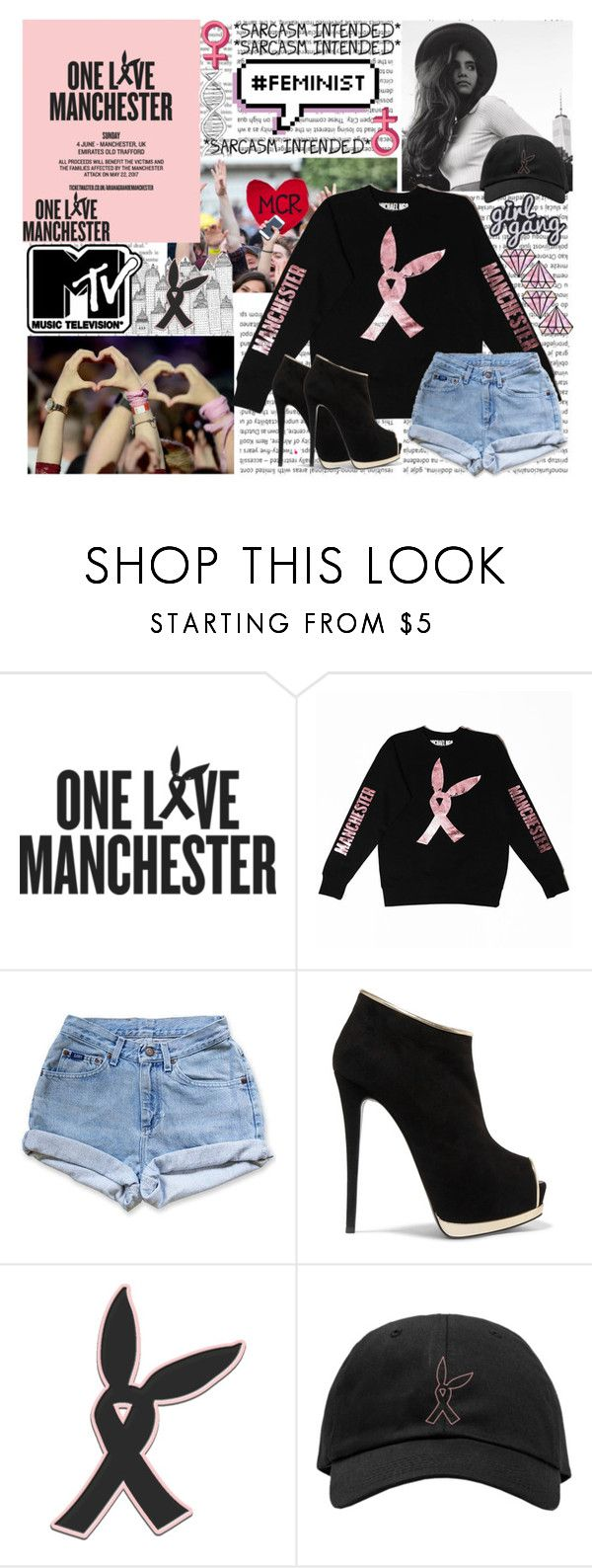 """""""One Love Manchester"""" by princess-malik-styles ❤ liked on Polyvore featuring Oris, Levi's and Giuseppe Zanotti"""