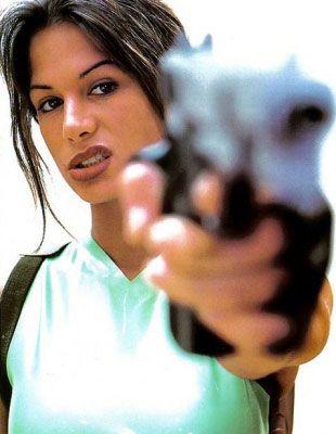 Rhona Mitra. First Official Lara Croft Model
