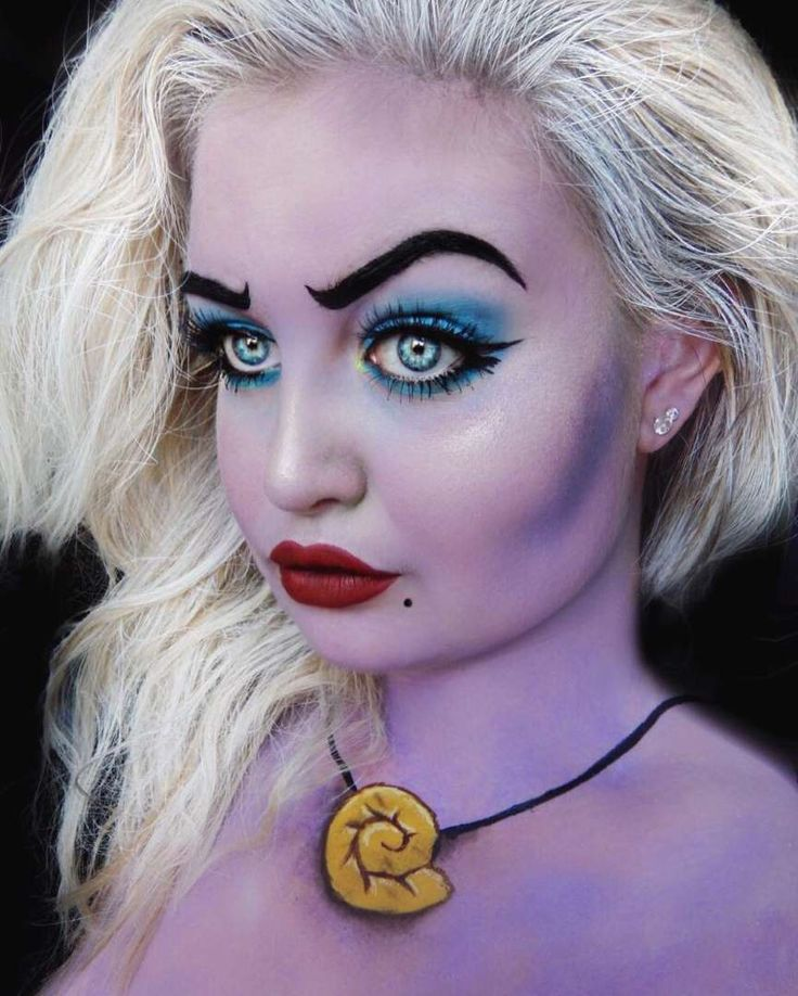 This recreation is much more realistic which I like, using the pop of blue on her eyes like the original character as well as the red lips shows a good representation of Ursula. This design is very apparent on who is.