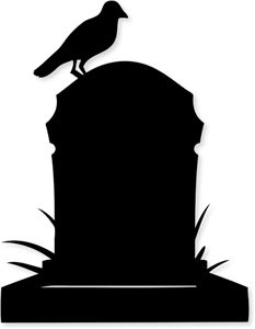 Silhouette Online Store - View Design #33479: tombstone & crow
