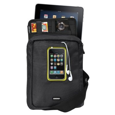 """Gramercy - Messenger Sling g holds an Apple iPad/10"""" Tablets and features a windowed cellular-phone pocket for iPhone 4/3Gs/3G as well as our famous GRID-IT!® system for organizational storage in a vertical design with adjustable shoulder strap."""