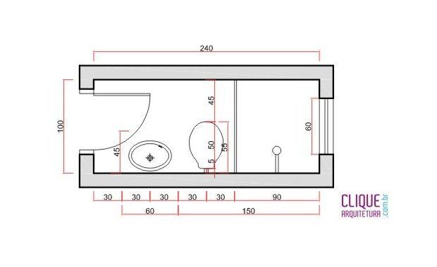 Dicas de áreas, larguras e medidas de portas e janelas para se ter um banheiro ou lavabo com medidas mínimas confortáveis.... | Clique Arquitetura | Seu portal de Ideias e Soluções