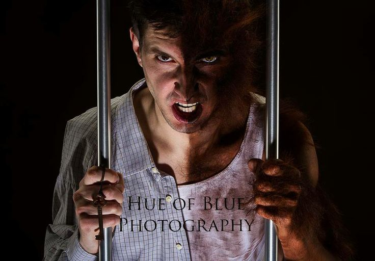 Monster, make up, werewolf, costume, photography, Hue of Blue Photography, caged, trapped, wild animal, crazy, Skillet Music, inspiration, story telling, fun