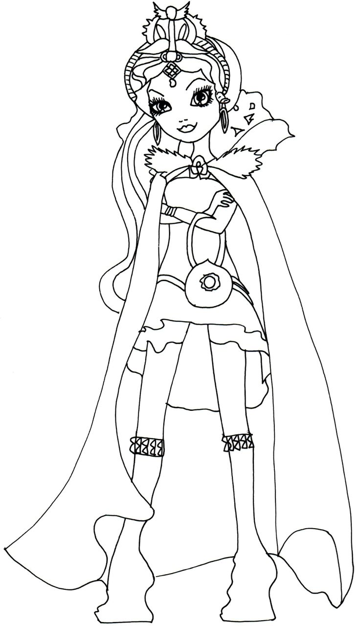 Ever After High Coloring Pages Raven Queen