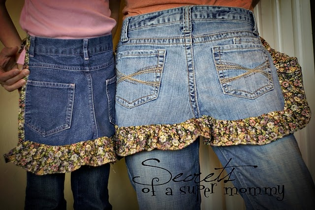 blue jean aprons