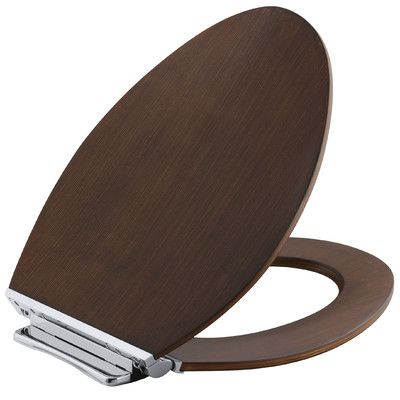 Kohler Avantis Quiet-Close with Grip-Tight Elongated Toilet Seat with Quick-Release Polished Chrome Metal Hinges Finish: