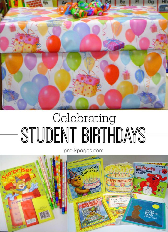 Celebrating Birthdays in Preschool. Tips and ideas for celebrating birthdays in your preschool or kindergarten classroom. Book suggestions, materials, and procedures for making student birthdays fun, easy, and meaningful!