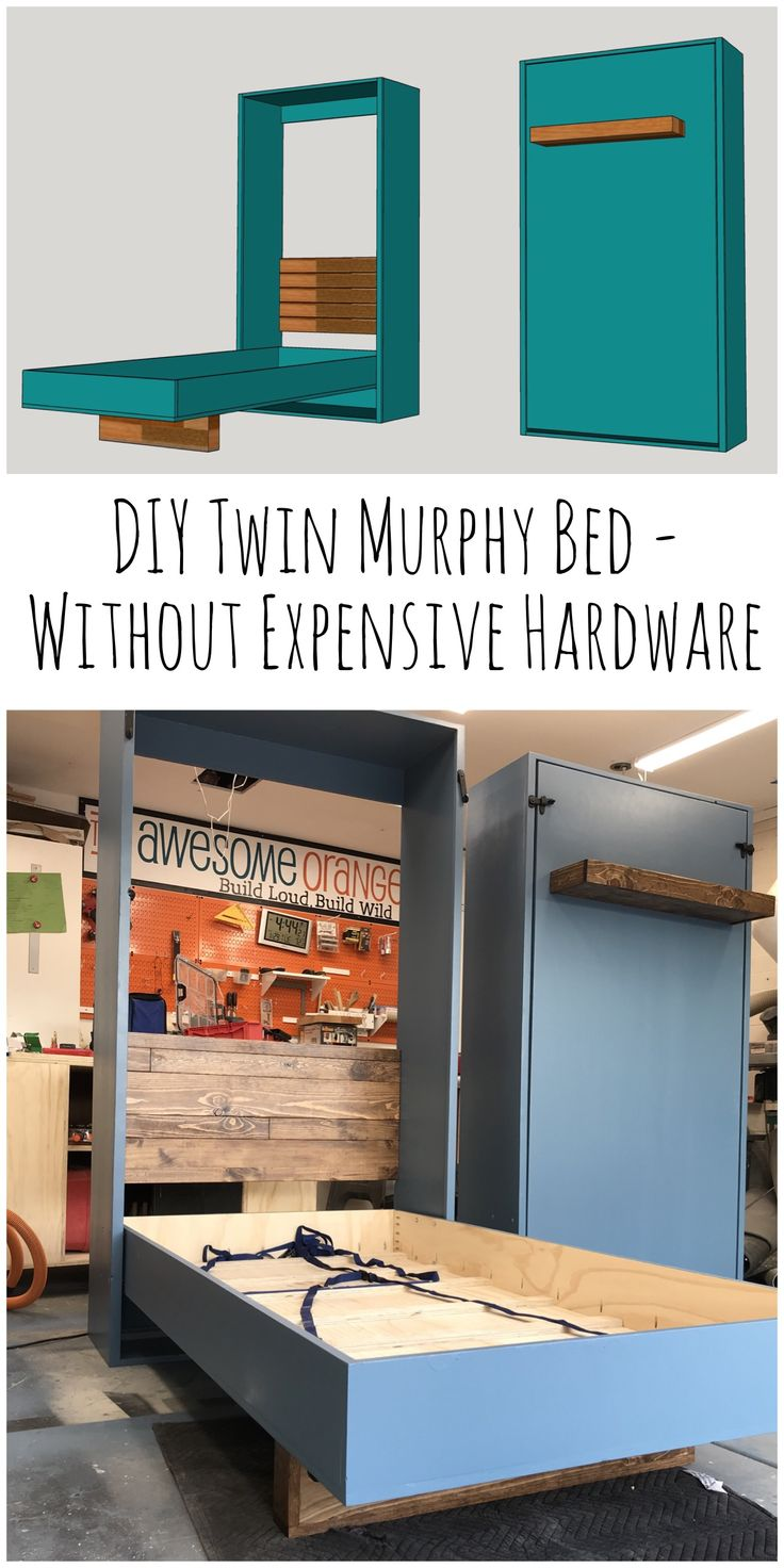 DIY Twin Murphy Beds Without Expensive Hardware Murphy