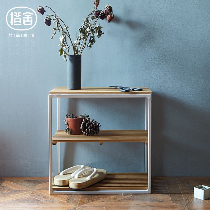 Oranje huis creative multifunctionele rack bamboe hout opbergrek opbergrek plank vloer woonkamer balkon(China (Mainland))