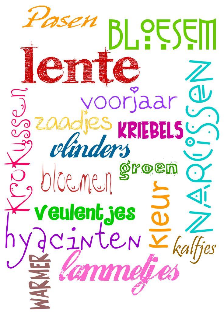 Lente - http://www.meestertim.nl/taal/seizoenen-posters/
