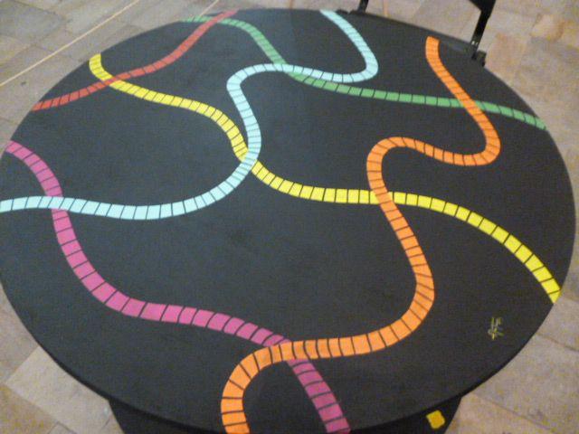 mesa de bobina reciclada