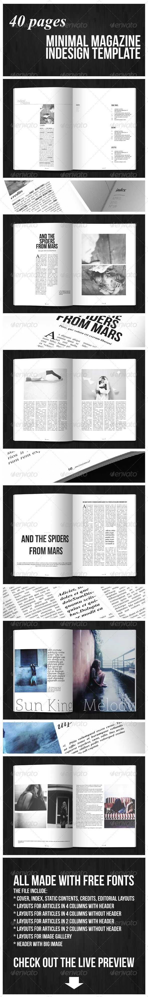 40 Pages Minimal Magazine - GraphicRiver Item for Sale