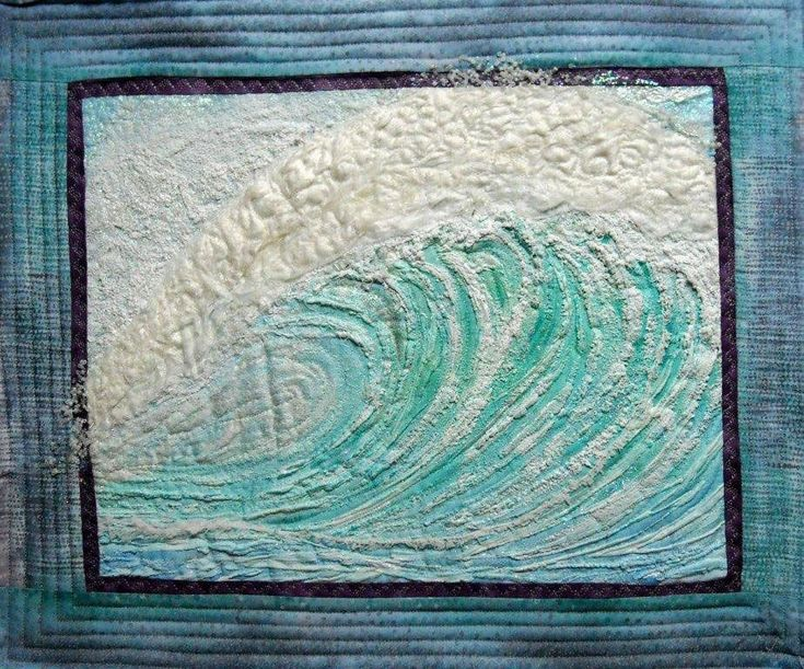 Wave quilt... holy crap that s cool and I will never be able to do that haha Interesting ...