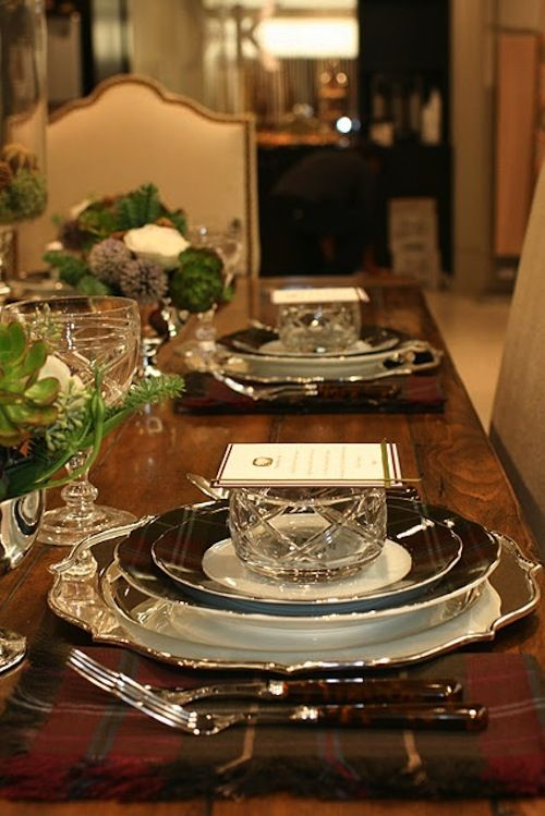 Formal Table Setting Ideas Christmas Pinterest