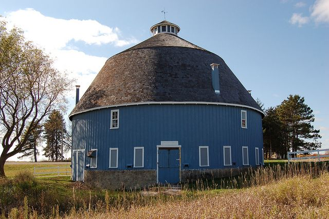 I love running past this round barn when I can get out and go for my long runs.  Minnesota, Chisago County,