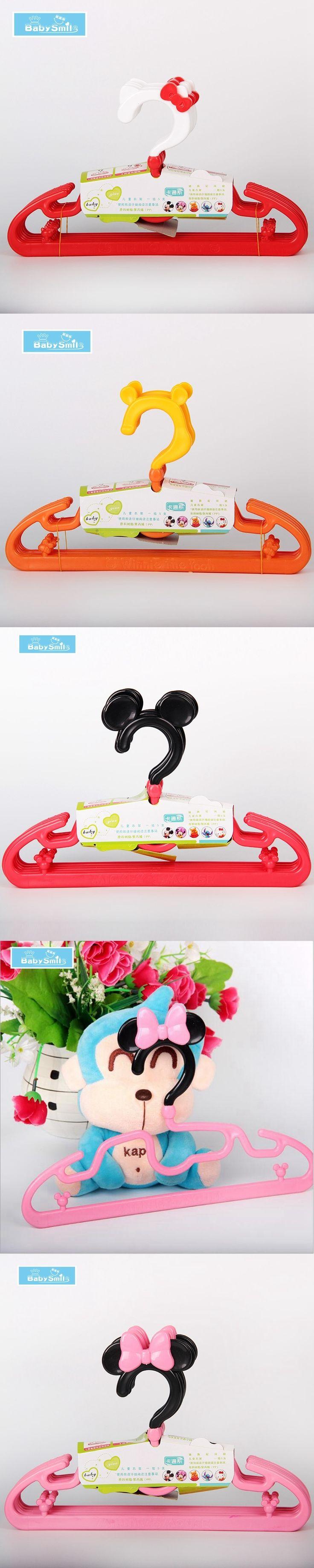 5Pcs 10pcs Cartoon Clothes Hanger Good Quality PP Plastic Hangers for Baby 4 model design 3D Space Children Hangers