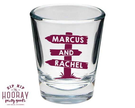 Rustic Shot Glass Shot Glass Wedding Shot Glass Best Day Ever Wedding Gifts Personalized Shot Glass Party Gift Wedding Favors 1655 by SipHipHooray
