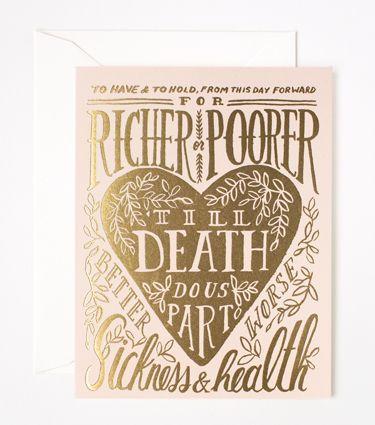 'Till Death Do Us Part Card - Rifle Paper Co.