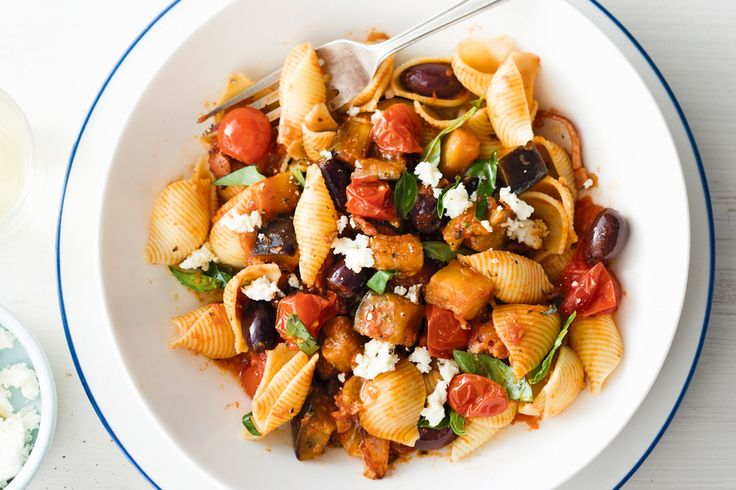 Add this Mediterranean-style pasta recipe to your collection for a colourful mid-week pick-me-up.