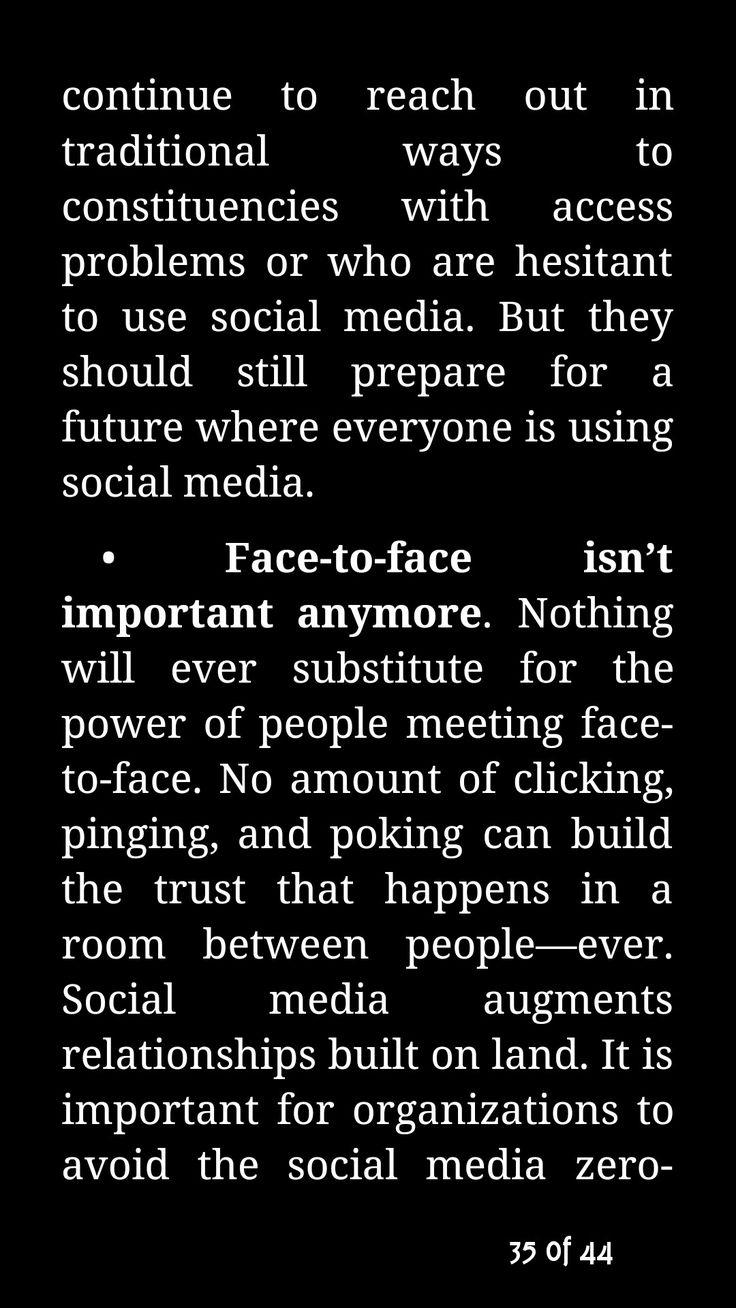 Social media myths